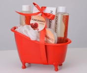 Pomegranate Tub Bath Gift Set