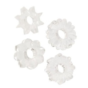 """Brand New Basic Essentials Set of 4 Rings (Clear) """"Item Type"""
