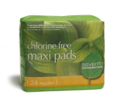 Seventh Generation Maxi Pads Chlorine-Free - Model 100073 - Box of 24