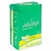 Procter & Gamble Always Maxi Pads - Regular - Model 89663 - Case of 288