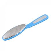 Rosallini Blue Plastic Handle Dead Skin Calluses Corn Remover Foot File Massager