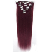 """Fashionline 15""""18""""20"""" Fashional Clips in Remy Human Hair Extensions 24 Colours for Women Beauty Hot Sale"""