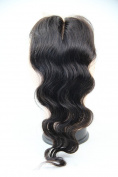 MID Part 4x4 Lace Closure 46cm 100% Soft Brazilian Virgin Human Hair Body Wave