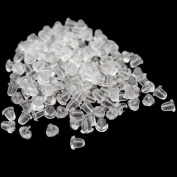 1000pcs Clear Earring Rubber Backing for Earrings 4mm Fashion Accessory Jewellery