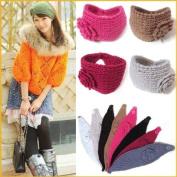 Flower Crochet Knit Knitted Headwrap Headband Ear Warmer Hair Muffs Band Winter