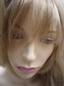 ONE PIECE CLIP IN FRINGE BANGS HAIRPIECE ASH BLONDE VERY REAL LOOK