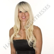 Long Root Effect Blonde Fearne Fashion Costume Wig | Soft Swept Fringe | Natural Glamourous Wave