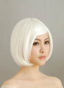 30CM Short White Hair Cosplay Wig