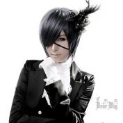 Ciel Phantomhive kuroshitsuji Short Straight Cosplay Party Hair Full wig