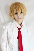 E-busienss Usui Takumi Cosplay Short Yellow Costume Hair Wig
