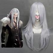 FINAL FANTASY-Sephiroth Sliver Grey Anime Heat Resistant Fibre Cosplay wig COS-035D