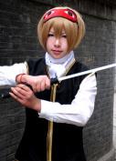 Youxi Silver Soul Okita, Asaba, Wu Tea Colour Short Hair Cosplay Wig