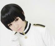 APH Axis Powers hetalia APH JAPAN Honda Kiku Short Black Anime Cosplay Wig