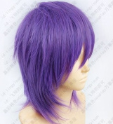 Kuroko's Basketball Murasakibara Atsushi Purple mix Cosplay Short Wig