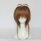 Mordor Cardcaptor Sakura Kinomoto Sakura Short Brown Cosplay Costume Wig MJ