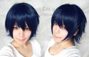 New Uta No Prince-sama Ichinose Tokiya Short Dark Blue Mix Black Cosplay Wig