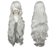 Taobaopit Vocaloid Series Silver White Long Curly Cosplay Wig Costume Wigs