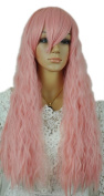 Yazilind Elegant Pink Long Curly Perm Heat Resistant Fibre Synthetic Hair Fancy-Dress Full Cosplay Anime Costume Wig