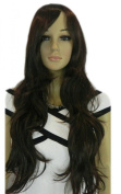 Yazilind Long Black Straight Wavy Heat Resistant Fibre Synthetic Hair Full Cosplay Anime Costume Wig