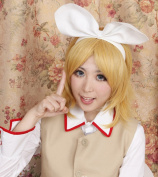 The Vocaloid Kagamine Rin Twin Sister Golden Cosplay Wig