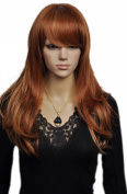 Yazilind Long Bright Brown Wavy Elegant Looking Heat Resistant Fibre Synthetic Hair Full Cosplay Anime Costume Wig