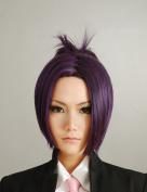 Home Teacher Dark Purple Cosplay Wig