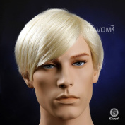 High Quality New Handsome Gentle Mens Short Straight Blond Hair Wigs European
