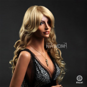 High Quality New Elegant Sexy Fashion Long Blond Curly Wigs Hair for Women & girls
