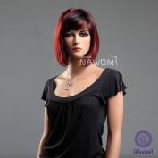 New Fashion Girls Women Bob Short Straight Red Black Wigs Hair Ladies Cosplay Party