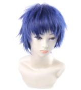 FENGSHANG Kuroko's Basktball Aomine Daiki Cosplay Short Wigs 33cm Blue