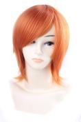 FENGSHANG Trinity Soul Satonakachie Short Cospaly Wigs 33cm Orange