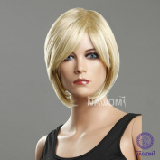New Fashion Simple Layered Short Straight Blonde Hair Wig Womens,girls