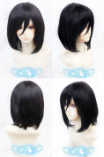 Attack on Titan Mikasa Ackerman Short Black Cosplay Wig