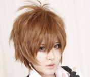 Tutor Kokichi Sawada Brown Anti-Alice Short Hair Cosplay Wig