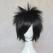 Mordor Death Note Naruto Uchiha Sasuke Anime Short Black Cosplay Party Hair Full Wig MJ