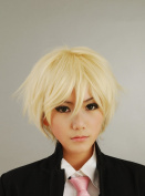Arthur British Pale Gold Anti-Alice Short Hair Cosplay Wig