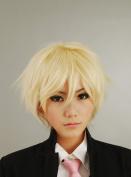 Arthur British Pale Gold Anti-Alice Short Hair Cosplay Wig
