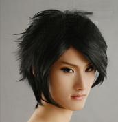 Black 30Cm Anti-Alice Cosplay Wig