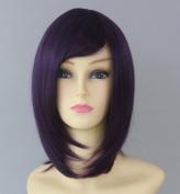 Gintama Takasugi Shinsuke Deep Purple Black 30Cm Msn Short Hair Cosplay Wig