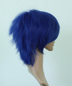 The Ryomou Shimei Blue Cosplay Wig