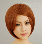 The Yagami 30Cm Shallow Mixed Brown Cosplay Wig