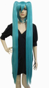 Anangelhair +Free Hair Cap 48inch 120 Cm Miku's Day Vocaloid Hatsune Miku Cosplay Wig Turquoise Anime