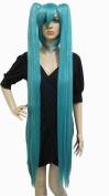 Anangelhair +Free Hair Cap 48inch 120 Cm Miku's Day Vocaloid Hatsune Miku Cosplay Wig Turquoise Anime