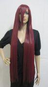 E-busienss Woman Wine Red Cosplay Wig Long Party Wigs Christmas Halloween Hair