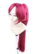 FENGSHANG Sakura Kyoko Claret Long Cosplay Wigs Red 70cm