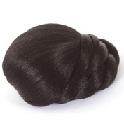 Braided Black Clip In Hair Bun | Clip On Glamorous Hairpiece | Available in 4 Colours