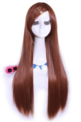 L-email 80cm Long Brown Straight Cosplay Hair Wig Cw280-e