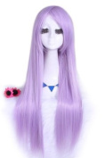 L-email 80cm Long Lavender Colour Straight Cosplay Hair Wig Cw280-a