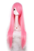 L-email 80cm Long Pink Straight Cosplay Hair Wig Cw280-h