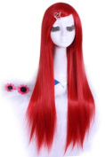 L-email 80cm Long Red Straight Cosplay Hair Wig Cw280-c